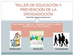 Taller de educación y prevención contra la drogadicción