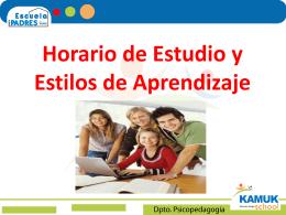 Horario de estudio escuela para padres