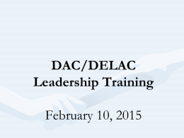 Who is a part of DAC/DELAC? - Ravenswood City School District