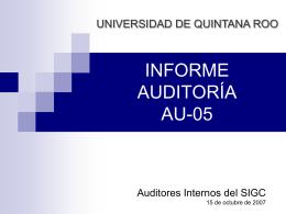 AU05_presentacion - Sistema Institucional de Gestión de la