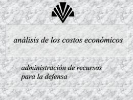 Análisis de los Costos Económicos