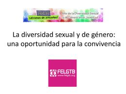 La diversidad sexual y de género: una oportunidad para la