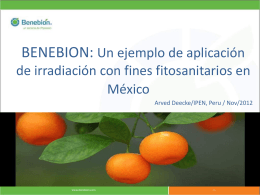 Implementation in Mexico as a case study for Perú Arved Deecke