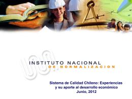 Instituto Nacional de Normalización Seminario: Calidad