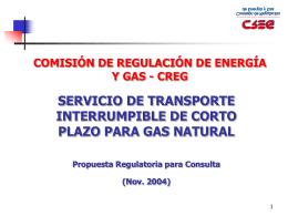 Propuesta a Discusión (Cont.) - CNO-Gas