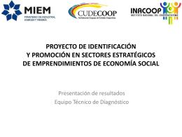 proyecto de identificación y promoción en sectores