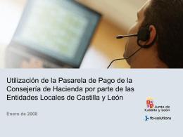 pasarela de pago - Junta de Castilla y León