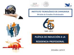 Diapositiva 1 - Instituto Tecnológico de Chihuahua