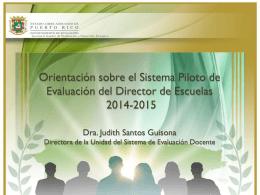 Presentacion sistema de evaluación Director enero