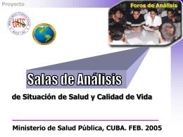 salas de situacion - Biblioteca Virtual en Salud de Cuba
