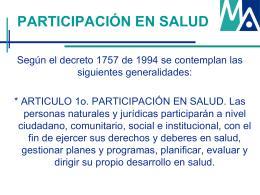 Presentación S.I.A.U - ESE María Auxiliadora