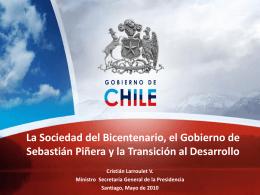 La Sociedad del Bicentenario, el Gobierno de Sebastián