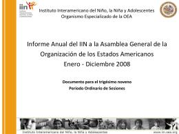 Instituto Interamericano del Niño, la Niña y Adolescentes