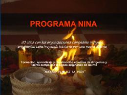 PROGRAMA DE FORMACION CAMPESINA NINA