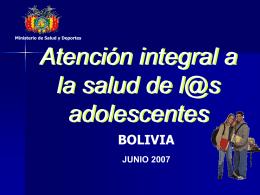 Bolivia - ORAS CONHU / Organismo Andino de Salud