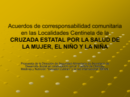Acuerdos de corresponsabilidad comunitaria en las - ibfan-alc