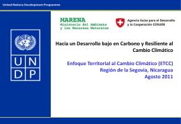 Hacia un Desarrollo bajo en Carbono y Resiliente al Cambio