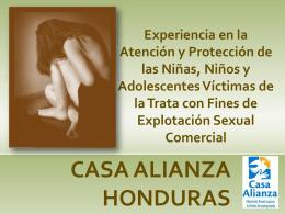 Experiencia de Casa Alianza en atencion a victimas de ESC y