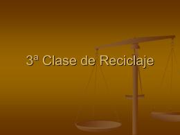 CLASE 3 RECICLAJE 5º - Colegio Santa Teresita de Coelemu