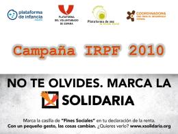 dossier campaña irpf 2010 - Coordinadora Aragonesa de