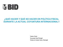 Gustavo García, IDB