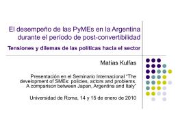 El desempeño de las PyMEs en la Argentina durante el