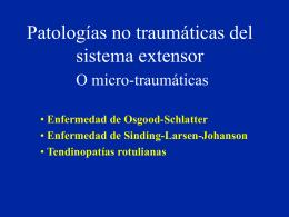 Patologías micro-traumáticas del sistema extensor - lerat