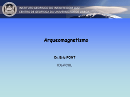 Arqueomagnetismo - Personal Web Pages