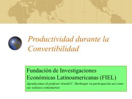 Productividad durante la Convertibilidad