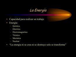 La Energía - E-ducativa catedu