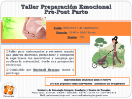 """""""Taller de preparación emocional durante el pre y postparto"""""""