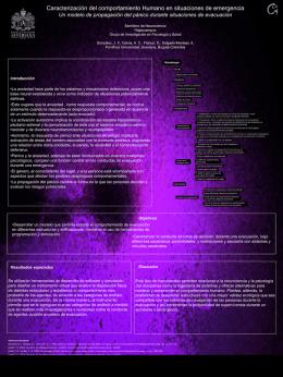 Poster Expuesto en Congreso Nacional de Neurociencia