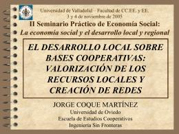 Presentación  - Facultad de Ciencias Económicas y