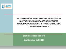 Presentación de PowerPoint - Ministerio del Medio Ambiente