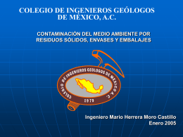 """""""Contaminación del medio ambiente por residuos sólidos envases y"""