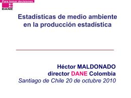 Héctor Maldonado Panel-Estadísticas de medio ambiente en