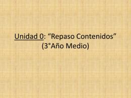 Unidad 0 (Repaso 3°Medio)