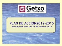 Revisión del Plan de Acción 2012-2015