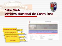 Sitio Web Archivo Nacional de Costa Rica