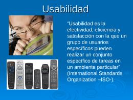 Usabilidad - Universidad Sergio Arboleda