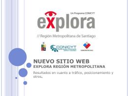 Nuevo Sitio Web Explora Región Metropolitana