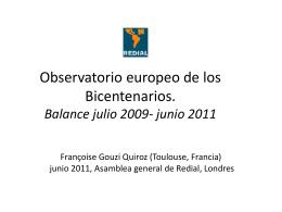 Observatorio europeo de los Bicentenarios - América Latina