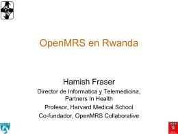 Implementacion a nivel nacional de OpenMRS en