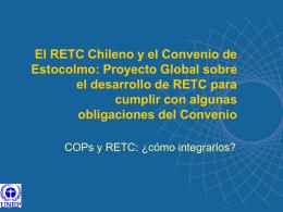 El RETC Chileno y el Convenio de Estocolmo