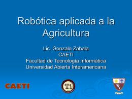 Robótica aplicada a la actividad agrícolo-ganadera