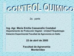CONTROLQUIMICO - Departamento de Protección Vegetal