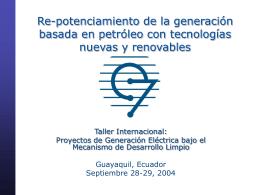 Repotenciamiento de la generación basada en petróleo con