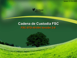 Declaración FSC - Rainforest Alliance