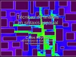 Técnicas de análisis en sintaxis espacial