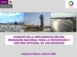 8. Implementacixf3n del Programa Nal. Prev. Gest. Int